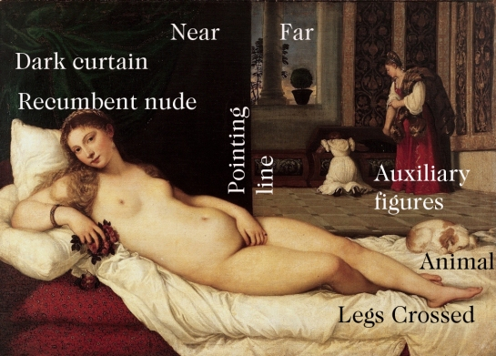 venus of urbino with labels