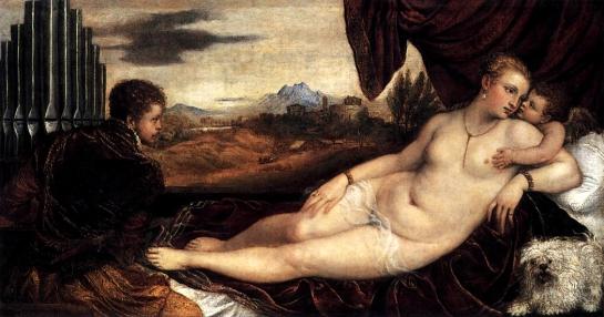 venuscupid and organist titan 1548