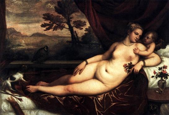 venus&cupid titian 1550