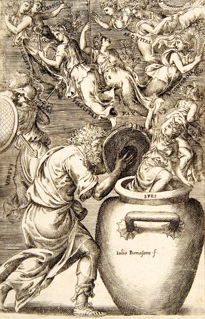 Epimetheus opening Pandora's Box