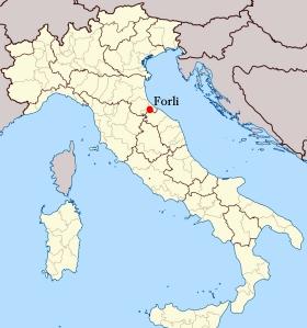 Forli map