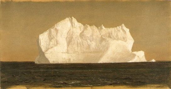 Church Iceberg flotante, 1859