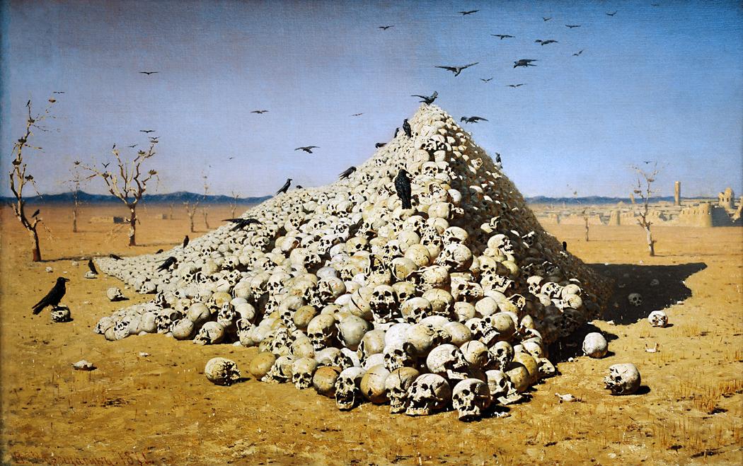 skull pyramid