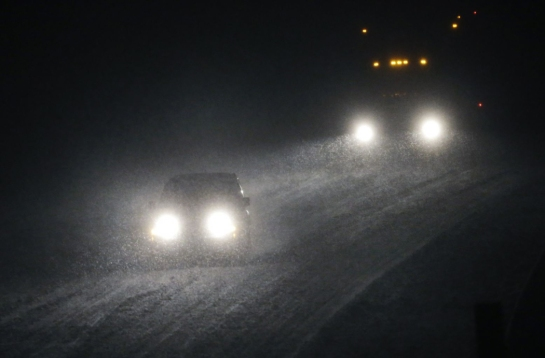 blizzard headlights