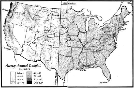 hundredth meridian map