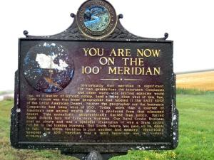 hundredth meridian sign ND