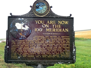 hundredth meridian sign ND