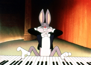 bugs plays piano