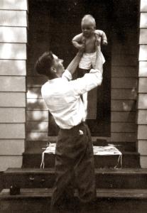 Dad, Ricky July 1948 copy