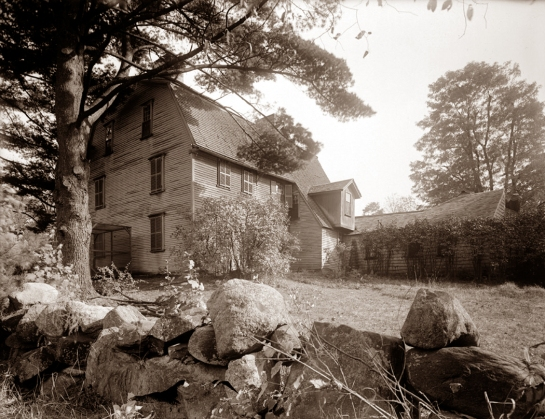 old manse with wall