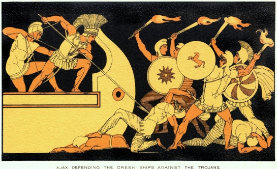Ajax Defending Greek Ships Against Trojans