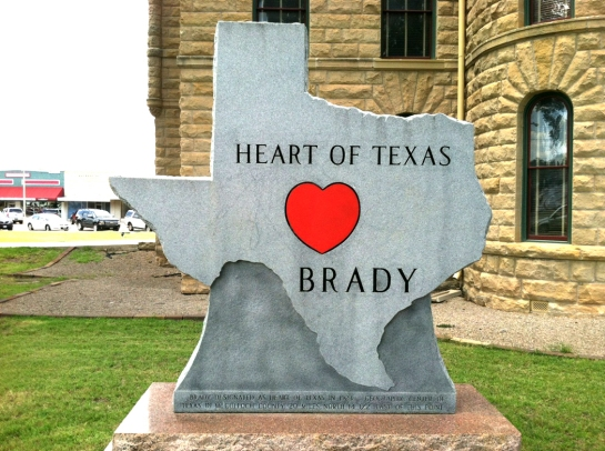 Brady texas sign