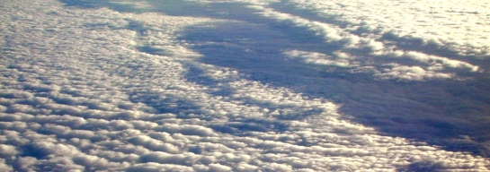 Clouds from plane