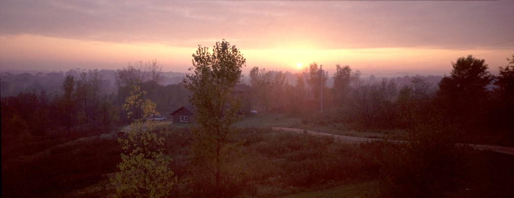 Frosty dawn Wisconsin