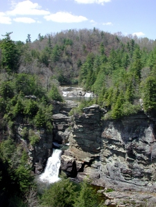 Linville Falls from above
