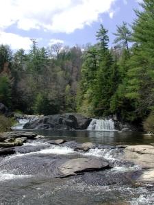 Linville upper falls