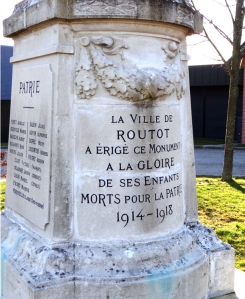 Routot monument text