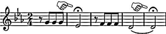 opening bar with fermata pointed