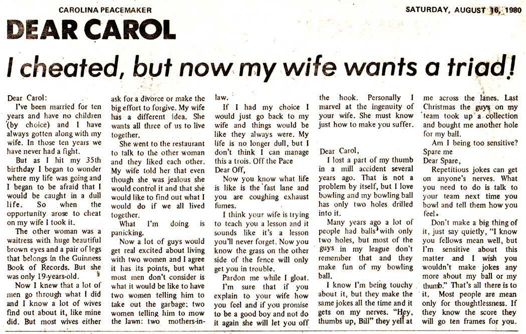 Dear Carol 1