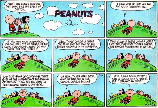 charlie brown and clouds