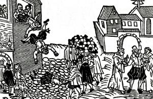 defenstration of prague woodcut