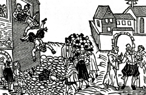 defenstration of prague woodcut