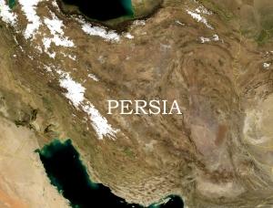 Persia satellite view