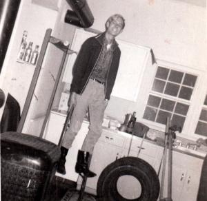 Raeford Bland on stilts