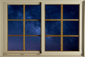 night sky window