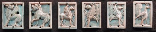 Cluny animal ivory tiles