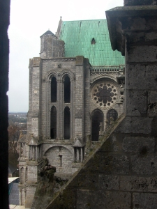north transept from roof