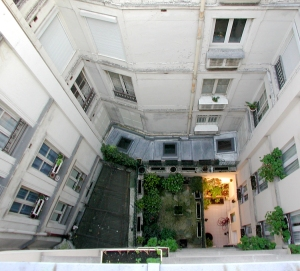 Apartment Building Air Shaft rose window | richard nilsen