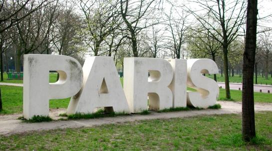 paris sign at bois