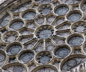 south rose window exterior detail