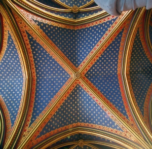 ste chapelle downstairs ceiling