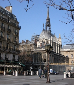 ste chapelle exterior from street