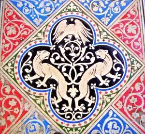 ste chapelle floor lions
