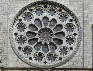 west rose window exterior