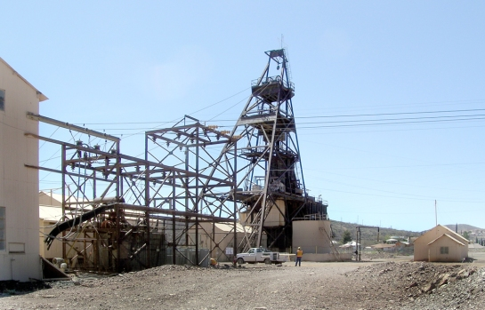 Warren pit head, Bisbee