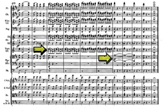 Brahms symphony 2 with arrows