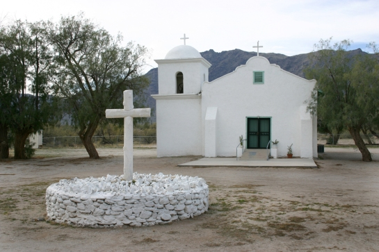 Mission church on Gila Reservation