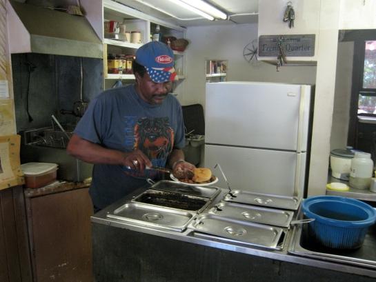 Wilcox Rodney fixing BBQ