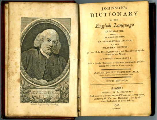 Johnson dictionary