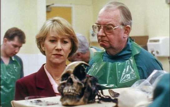"Helen Mirren and David Ryall in ""Prime Suspect"""