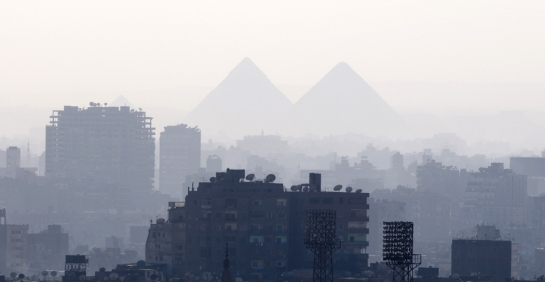 giza view from cairo