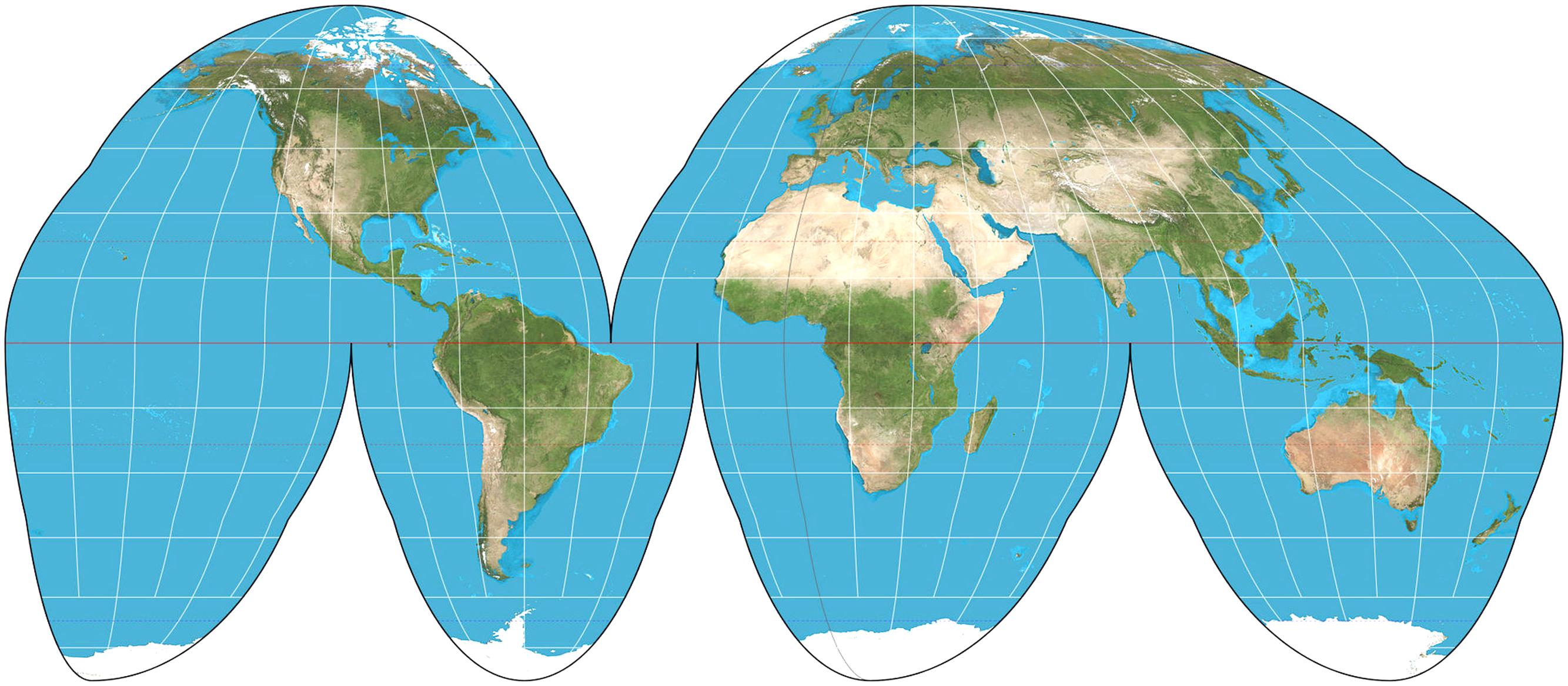 Goode homolosine projection